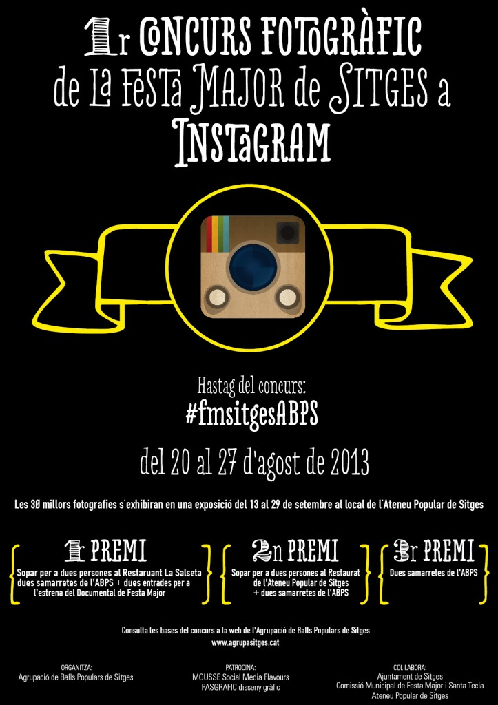 Cartell Concurs Festa Major a Instagram 2013